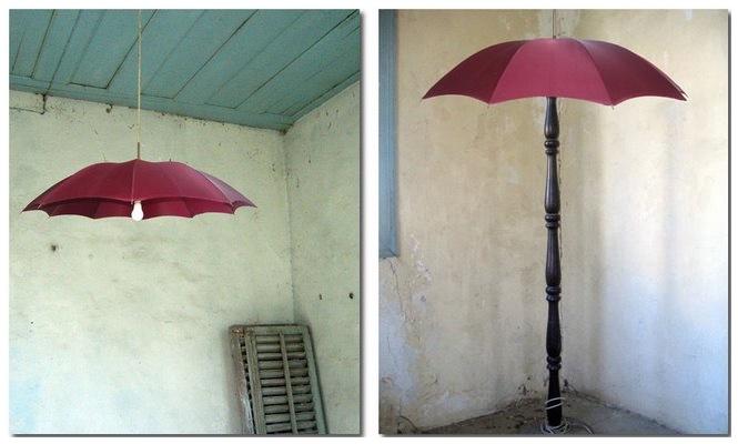 Wie kann ich aus einem Regenschirm einen Lampenschirm basteln?