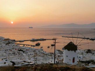 Mykonos Windmühlen - Weltbekannte Insel Mykonos, Griechenland
