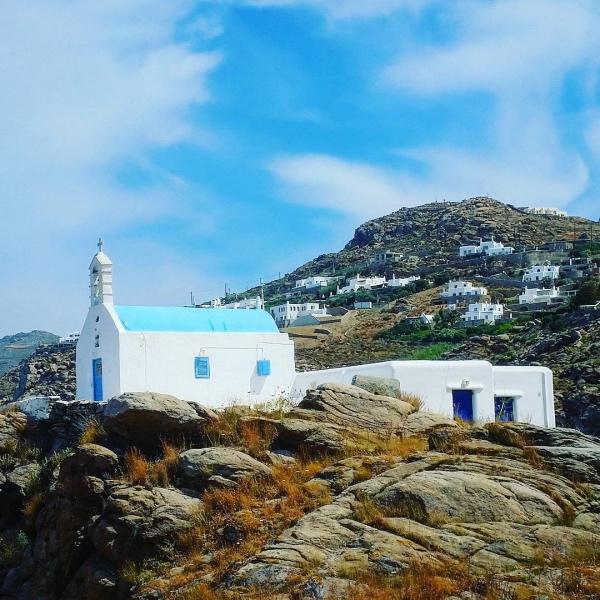 Dorf Ano Mera - Weltbekannte Insel Mykonos, Griechenland