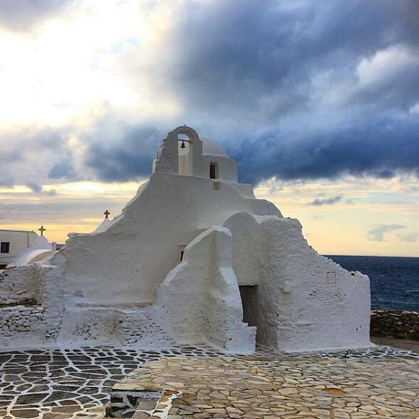 Paraportiani Kirche (Church of Paraportiani) - Weltbekannte Insel Mykonos, Griechenland