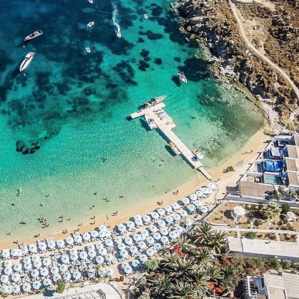 Nammos Strand - Weltbekannte Insel Mykonos, Griechenland