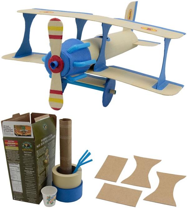 Wie kann ich ein einfaches Flugzeug Modelle basteln?