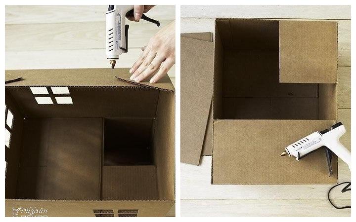 Wie baue ich ein Katzenhaus aus Karton?